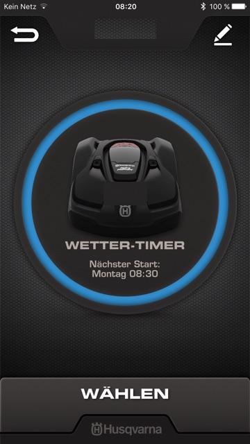 Alle Funktionen bequem auf dem Handy steuern Automower® Mähroboter, Installation, leise, schnell