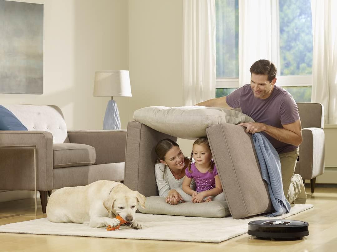 Auch mit Tierhaaren schafft der Roomba 900 ein sauberes zuhause