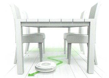 Die Saugroboter navigieren auch unter Möbeln